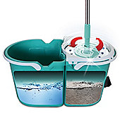JML Clever Mop: Microfibre Mop with Spinning Dual Bucket & Wringer Clever Mop