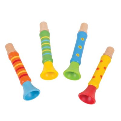 Bigjigs Toys Toot-Toot Trumpet (Pack of 4) - Musical Toys