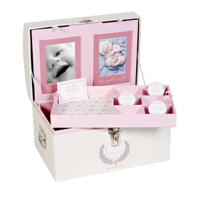 Blue Memory Keepsake Box for Baby Girls