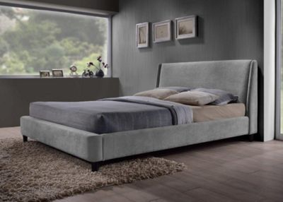 Grey Fabric Finished Contemporary Styled Bed Frame - Small Double 4ft