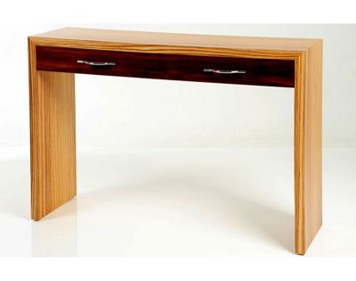 Trefurn Linear Occassional Table - Black Walnut and Birds Eye Maple