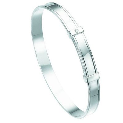 D For Diamond B306 Diamond Christening Bangle