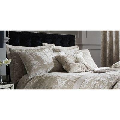 Catherine Lansfield Crushed Velvet Natural Pillowsham Pair