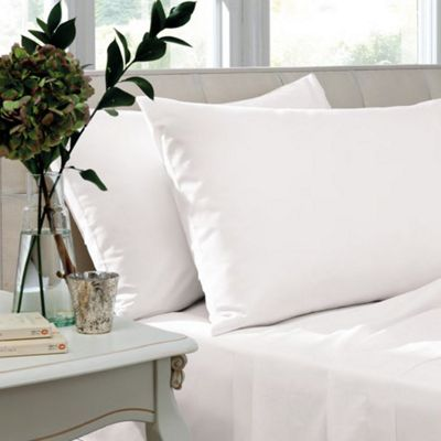 Catherine Lansfield White Flat Sheet - Single