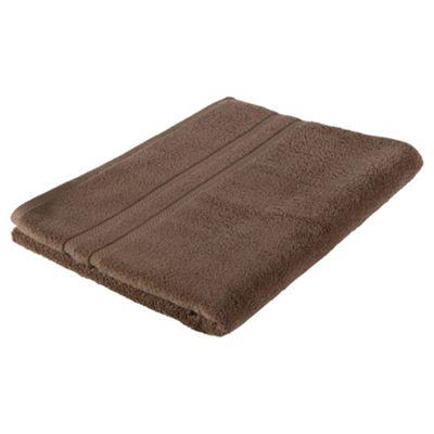 Tesco 100% Combed Cotton Bath Sheet Mocha