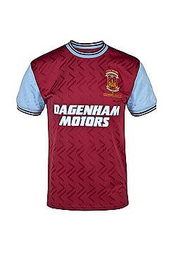 West Ham United FC Mens 1994 Retro Shirt - Red