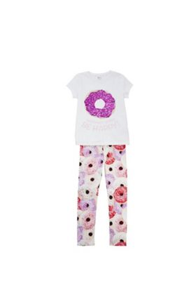 F&F Two-Way Sequin T-Shirt and Leggings Set Multi 5-6 years