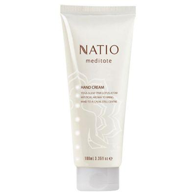 Natio Meditate Hand Cream Pink Lotus