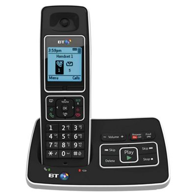 BT 6500 Single Cordless With Answer Machine Telephone , Black