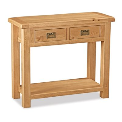 Zelah Oak Console Table - Rustic Oak