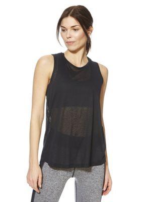 F&F Active Burnout Jersey Vest Top Black XS