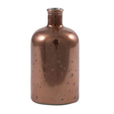 Antique Bronze Recycled Glass Mini Retro Bottle
