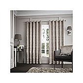 Curtina Purple Downton Eyelet Curtains - 130x90 Inches (335x229cm)