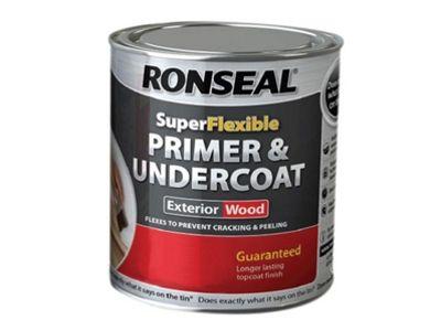 Ronseal RSLEWPGRY750 750 ml Weatherproof Flexible Wood Primer and Undercoat Grey