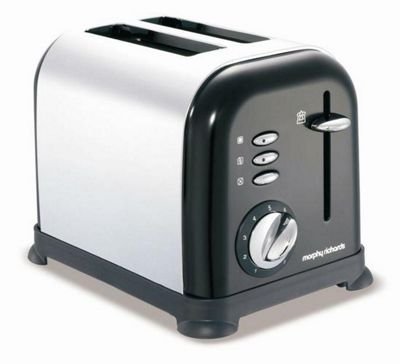 Morphy Richards 2 Slice Toaster Black and Chrome