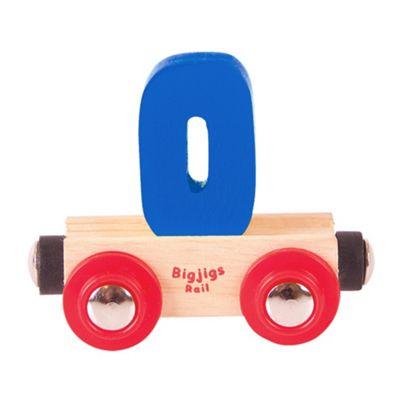 Bigjigs Rail Rail Name Number 0 (Dark Blue)