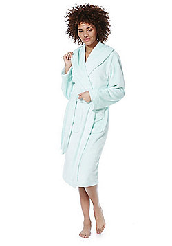 F&F Stitch Detail Dressing Gown - Ice blue