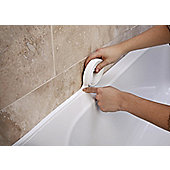 Bathroom Shower Sink or Bath Sealing Strip - White