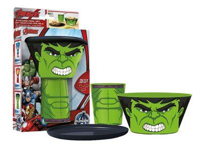 The Hulk Kids Childrens Stacking Meal Mug Bowl Plate Set Avengers