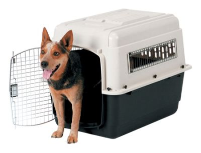 Petmate Intermediate Vari Ultra Fashion Dog Kennel in Bleached Linen and Black