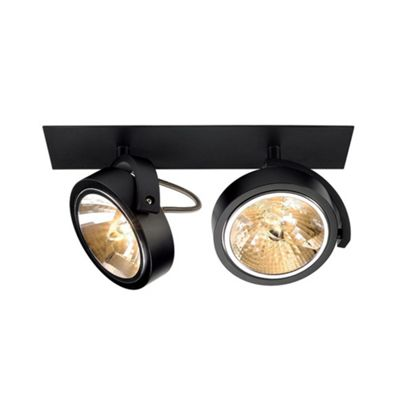 Kalu Recessed 2 Downlight Matte Black Max. 2X 50W