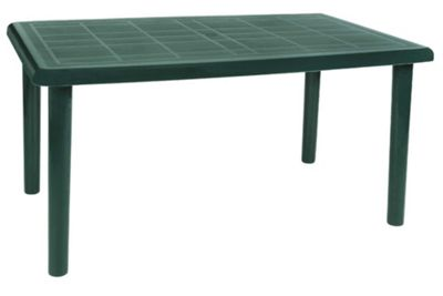 Buy Resol Olot Outdoor Rectangular Garden Table Green Plastic 140 X 90cm From Our Plastic