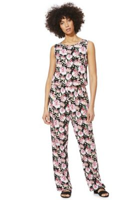 JDY Sleeveless Floral Jumpsuit Multi XS