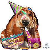 """""""Basset Hound Birthday Foil Balloon - 25"""""""""""""""