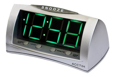 Acctim Astral Stylish Jumbo Green LED USB Smart Connector Alarm Clock