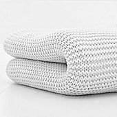 Cuddles Collection Cot Bed Cellular Blanket (White)