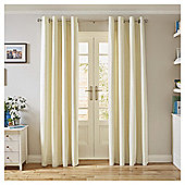 Tesco Canvas Lined Eyelet Curtains - Ivory