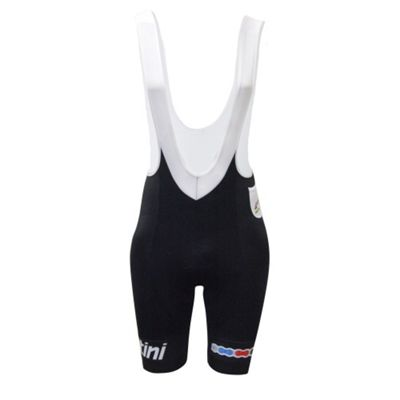 RE 1075 GIA 3UCI - Santini UCI Fashion Gel Intech Anatomic Pad Bib Short Black Medium