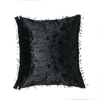 Ebony Crushed Velvet Cushion 18