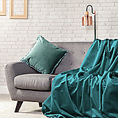 Mallard Plush Velvet 140cm x 240cm Soft Throw Over - 1 Sided