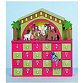 Nativity Wooden Christmas Advent Countdown Calender - Fill Your Own