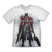 Bloodborne Hunter Street T-shirt, Extra Large, White (ge1777s) - Gaming T-Shirts