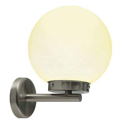 Pallo 1 Light Wall Light 28W Marine Grade Brushed Stainless Steel
