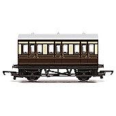 Hornby Coach R4673 Gwr 4 Wheel Coach - Railroad