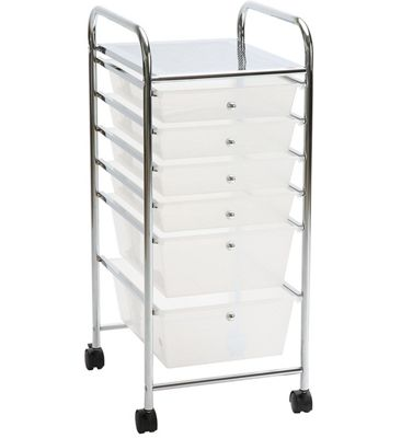 ASPEN 6 Drawers Storage Trolley
