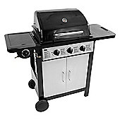 Charles Bentley Black 3 Burner Gas BBQ with side burner