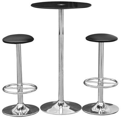 Premier Housewares 3 Piece Bar Table Set