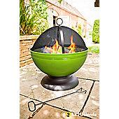 Lime Green Globe Firepit