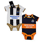 Newcastle United Baby 2 Pack Bodysuits - 2016/17 Season - White & Black