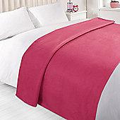 Wholesale 10 x Plain Fleece Blanket Soft Warm Sofa Throw Over 120 x 150cm Joblot - Fuschia pink