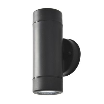 Litecraft Marni 1 Bulb Polycarbonate LED Outdoor Up and Down Wall Light, Black