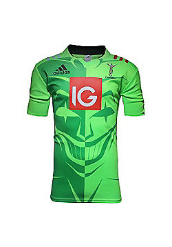 adidas Harlequins 2015/16 S/S Rugby Training Shirt - All Sizes Available - Green