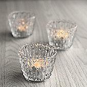 Set of Faceted Tea Light Holders