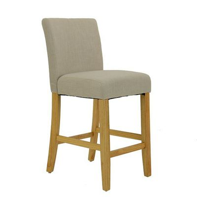 Newark Wooden Bar Stool Biscuit Fabric