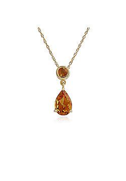 Gemondo Citrine Necklace, 9ct Yellow Gold 1.26ct Citrine Pendant on 45cm Chain