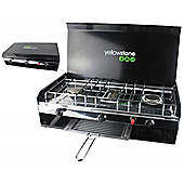 Yellowstone Durable Steel Double Burner with Grill and Lid